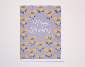 Happy Birthday Marigolds Note Card