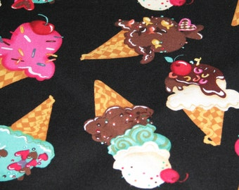 Fully Reversible Triangle Tie Dog Bandana Scarf 28 inches M/L Custom Colorful Ice Cream Cones Sprinkles Cherries