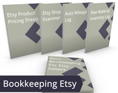 Etsy Bookkeeping Tools Bundle - ALL DIY Accounting Resources, Shop Examiner, Pricing, Basic Bookkeeping Mileage Log Material Forms Templates