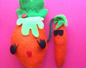 Cool Carrot with Sunglasses