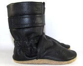 Soft Sole Black Leather Baby Boots 12 to 18 Month