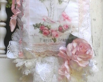 Shabby Cottage French Frilly Lavender Sachet *Fresh Lavender*