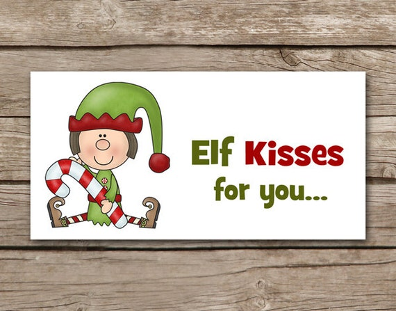 Handy image with regard to elf kisses printable