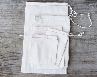 Cotton Drawstring Bags, all sizes
