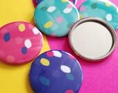 Pocket Mirror with Spotty Pattern