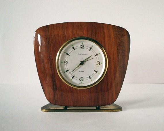 modern desk accessory mid century modern clock phinney walker maple