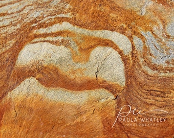 nature abstract, stone photo, geologist gift, geology art, rock photo,  rust stone photo, rock art, tan abstract art, nature color abstract