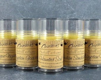 1oz Jumbo Solid Perfume ((Scents O - P)) - earthy, fruity, floral, bakery, citrus, hippie, berry, woodsy, etc)