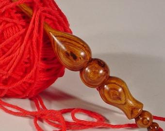 Exotic Rare Desert Ironwood Hand Turned Wooden Crochet Hook by Bryan Tyler Nelson