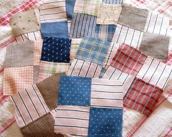 Rural Life...Vintage Patchwork Quilt Blocks...Antique 1900s