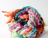 handspun yarn, hand spun yarn, handspun art yarn, boucle yarn, free spirited, chunky yarn, chunky wool yarn, wild yarn, wool ..  wild #2