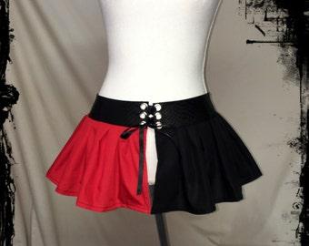 Harley Quinn Inspired Skirt Belt, Size Small to Medium - Ready to Ship - DC Comics Halloween Cosplay Costume Joker Geek