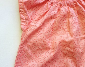 SALE! Baby Toddler Blouse in Cotton Voile - Bubblegum Firecracker -  12 Month Size