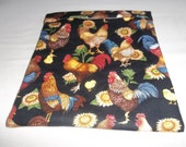 Microwave, Potato Bag, Chickens, Roosters, Sunflowers, Potato Sack, Microwave Potato Bag, Kitchen Utensil, Handmade, ALL Cotton