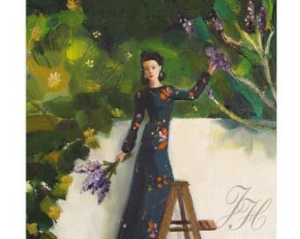 The Lilac Thief. Art Print