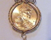 2016 Native American WWI & WWII Code Talkers  Sacajawea Wire Wrapped Pendant with charm