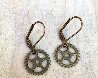 Gear Rings Earrings-sprockets-bije earrings-cyclist jewelry