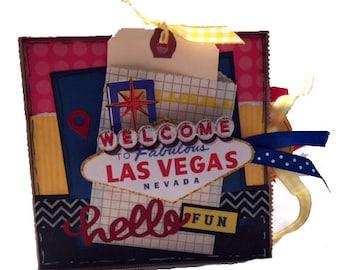 Las Vegas Scrapbook - Vegas Vacation Paper Bag Album