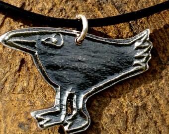 Raven, crow pendant