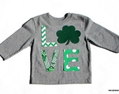 St. Patrick's Day... L And Shamrock VE...Fabric Iron On Appliques