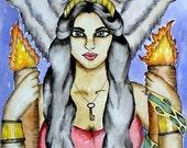 Mythology Art Hekate Art Hecate Art Altar Art Greek Goddess Spiritual Art Pagan Art Goddess Art Print Dark Goddess Art