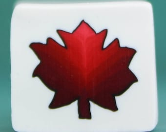 Red PREMO Polymer Clay Canadian Maple Leaf Cane (40E)