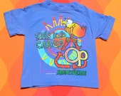 vintage 90s kid's t-shirt OCEAN PACIFIC op tee recycle surf children's Small Medium graphic