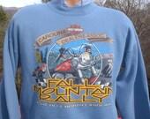 vintage HARLEY davidson sweatshirt biker rally motorcycle carolina dealers Medium Large 90s