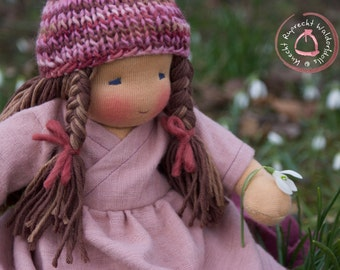 Reserved for Karen - Waldorf Doll - Waldorfdoll - Companion Doll - 30 cm - Handmade - Artist made - Fabric Doll - Cloth Doll for Children