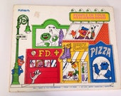 1974 Playskool Seasame Street People in Your Neighborhood Wood Puzzle