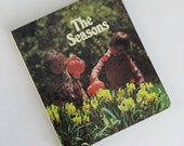 Rare 1980 Golden Press Board Book The Seasons