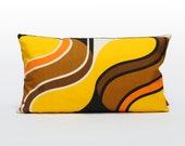Custom order for Debbie | Yellow Mid Century Modern Pillow cover, retro cushion case, handmade from vintage fabric by EllaOsix
