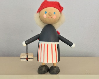 Vintage Swedish Wood Christmas GnomeTomte Nisse