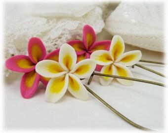 Plumeria Dangle Earrings - Frangipani Plumeria Drop Earrings