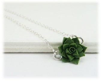 Tiny Succulent Necklace - Succulent Jewelry