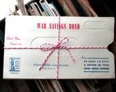 Vintage 1940's WWII Savings Bond Envelopes, Vintage War Bonds, Military 1942, War Ephemera Lot