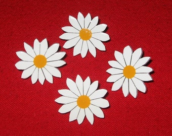 Daisy Push Pins, Hand Painted Daisies, Daisy Tacks, Daisy Pins, Flower Push Pins, Bulletin Board Push Pins, Daisy Theme, Daisy Decor