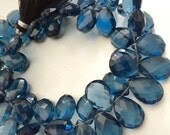 1/2 strand of London Blue Topaz color pears