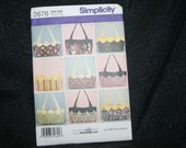 New Uncut Simplicity 2676 Bag, Purse Sewing Pattern SEWBUSY12
