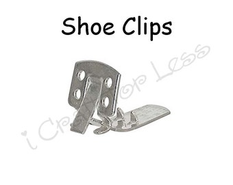 Shoe Clips Blanks Square - 2 (1 pair) - 10 PERCENT REFUND