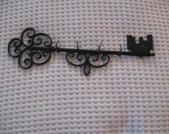 Vintage Black Metal Key Holder - Skeleton Key Holder
