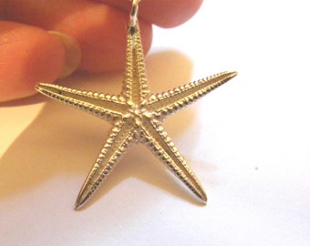Small Silver Starfish Necklace, Starfish Jewelry, Beach Jewelry 25mm