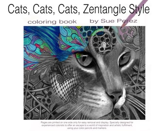 adult coloring book Cats Cats Cats from my drawings