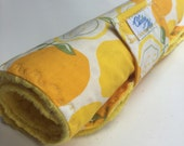 Baby Changing Pad roll up lemons print portable ready to ship yellow gender neutral