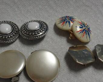 Vintage Lot of Clip Earrings