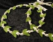 Greek Stefana, Greek Wedding Crowns, Olive Leaf Stefana, Rustic Greek Stefana, Ivory Greek Stefana, Traditional Stefana