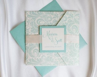 Pocketfold Wedding Invitation - Marirosa - SAMPLE Staccato Signature Collection