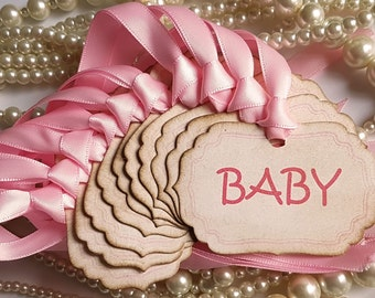 Baby Shower Tags, Pink Baby Shower, Blue Baby Shower, Baby Shower Favors, Baby Favour Tags, Baby Congratulations, Baby Party Ideas