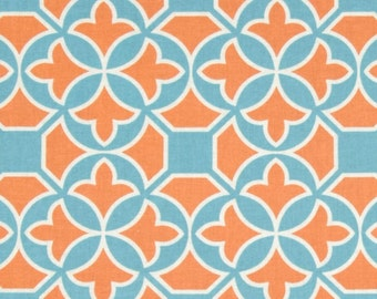 SALE Fabric, Bohemian Fabric, Flora fabric, Joel Dewberry Cotton Fabric- Trellis in Carrot -Fabric by the yard, Free Shipping Available