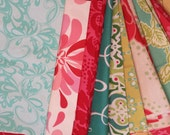 Designer Scrap Bundle Destash Assortment Nine Pieces Flat Rate Shipping Perfect For Quilt Making